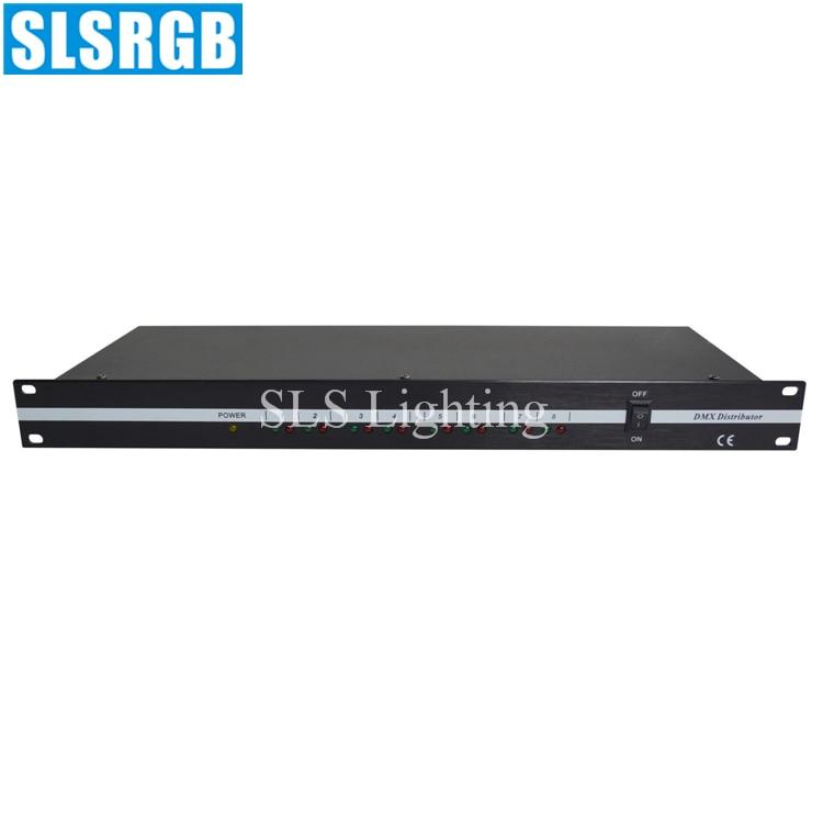 Controlador de SLS-1322-1U distribuidor DMX-8 8DXBU, controlador de DMX-8 DMX, 8 rutas, amplificador de controlador de señal Dmx