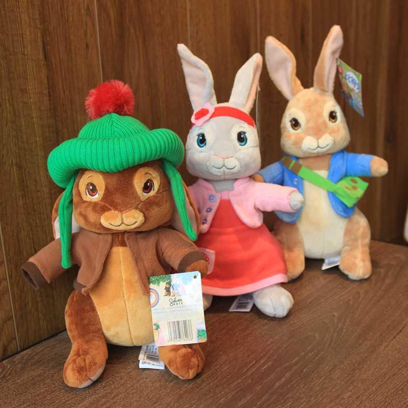 Original 30CM baby Peter rabbits plush Toys anime Benjamin Lily Dolls Bunny for children boys Kids girls birthday europe Gifts