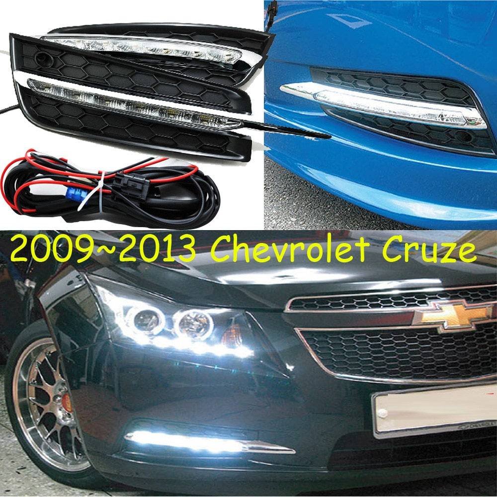 2009 2010 2011 2012 2013year for Chevrolet Cruze daytime light car accessories LED DRL headlight for Cruze fog light