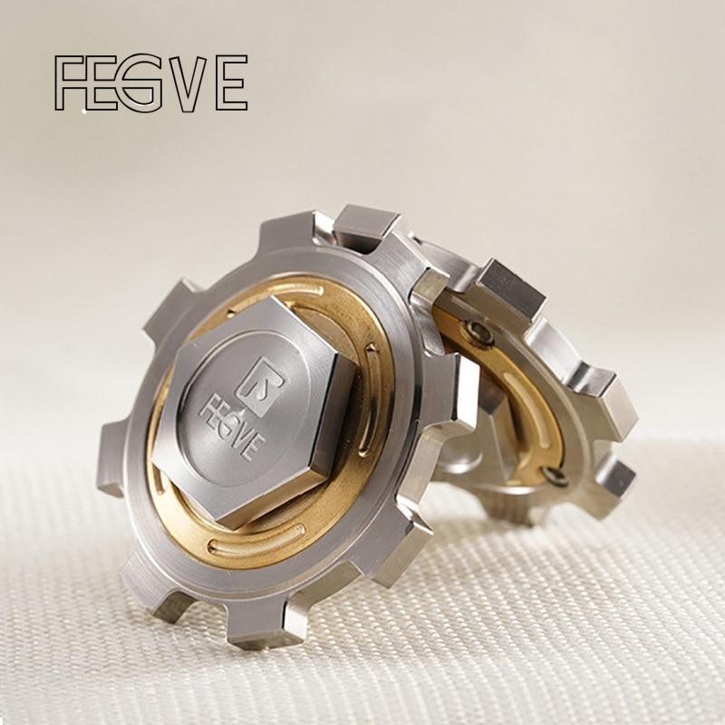 FEGVE-سبينر يدوي مصنوع من سبائك التيتانيوم ، يد سبينر ، EDC 688 ، محامل سيراميك ، FG31