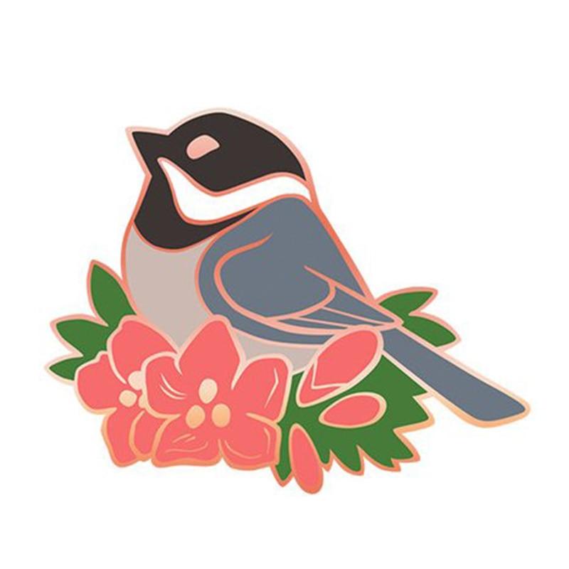 spring chickadee Enamel pin badge