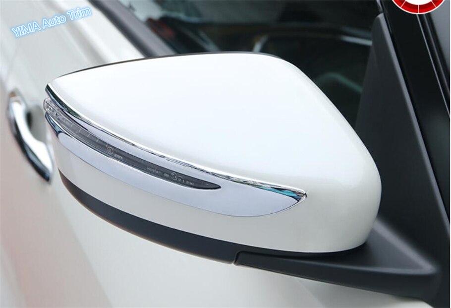 Lapetus para Nissan Leaf 2018 diseño de ABS para automóvil cromo puerta espejo protección tira embellecedor Streamer marco cubierta Kit 2 unids/set