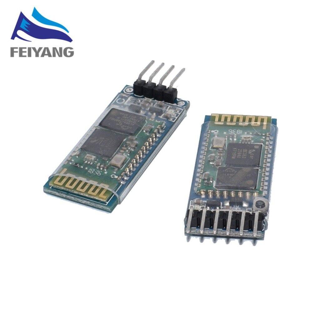 50PCS HC-06 HC-05 HC05 HC06 Sem Fio Bluetooth Transceiver Escravo Módulo conversor e adaptador