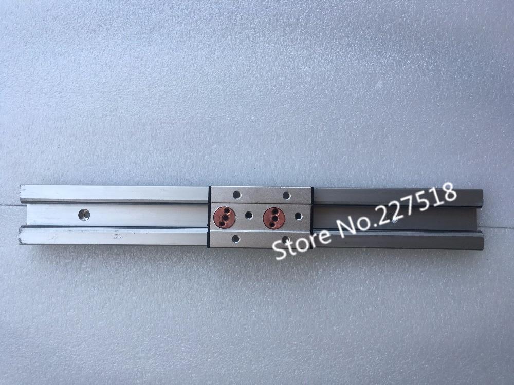 1 pcs Duplo eixo guia linear de rolos SGR10 L300mm + 1 pcs SGB10UU (4 bloco de rodas, L88) multi núcleo eixo de Movimento linear do trilho deslizante