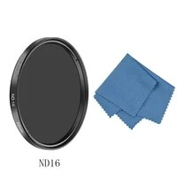 sioti 3740 5435862677282mm nd16nd32 camera filter with cleaning cloth for canon for nikon for sony for dslr camera lens