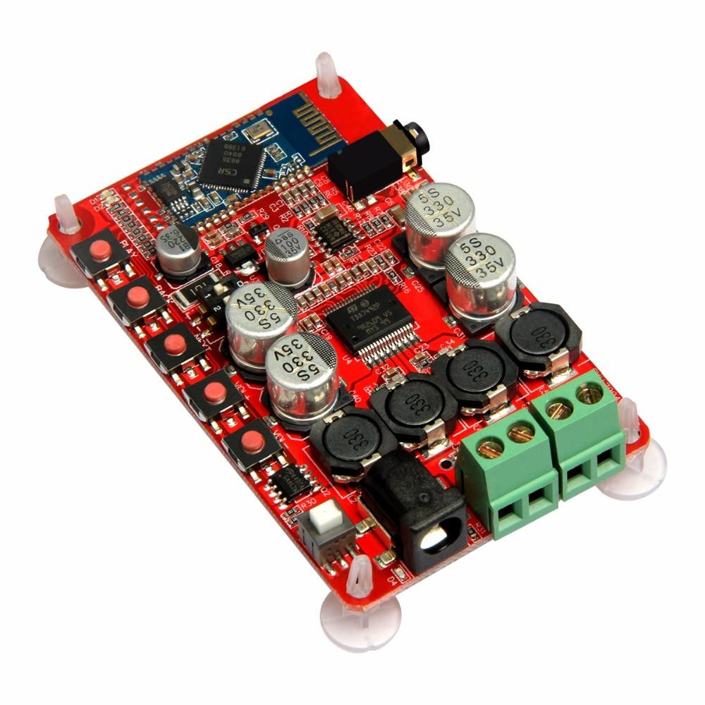 TDA7492P 50W+50W Wireless Bluetooth 4.0 Audio Receiver Digital Amplifier Board AUX Board fx138 2 x 50w tda7492 digital power audio amplifier circuit board blue silver
