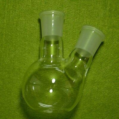 150 ML 2-neck Ebulição Plat Balão de Fundo, Parede pesada, com 24/29 Articulações, vidro Frasco de laboratório