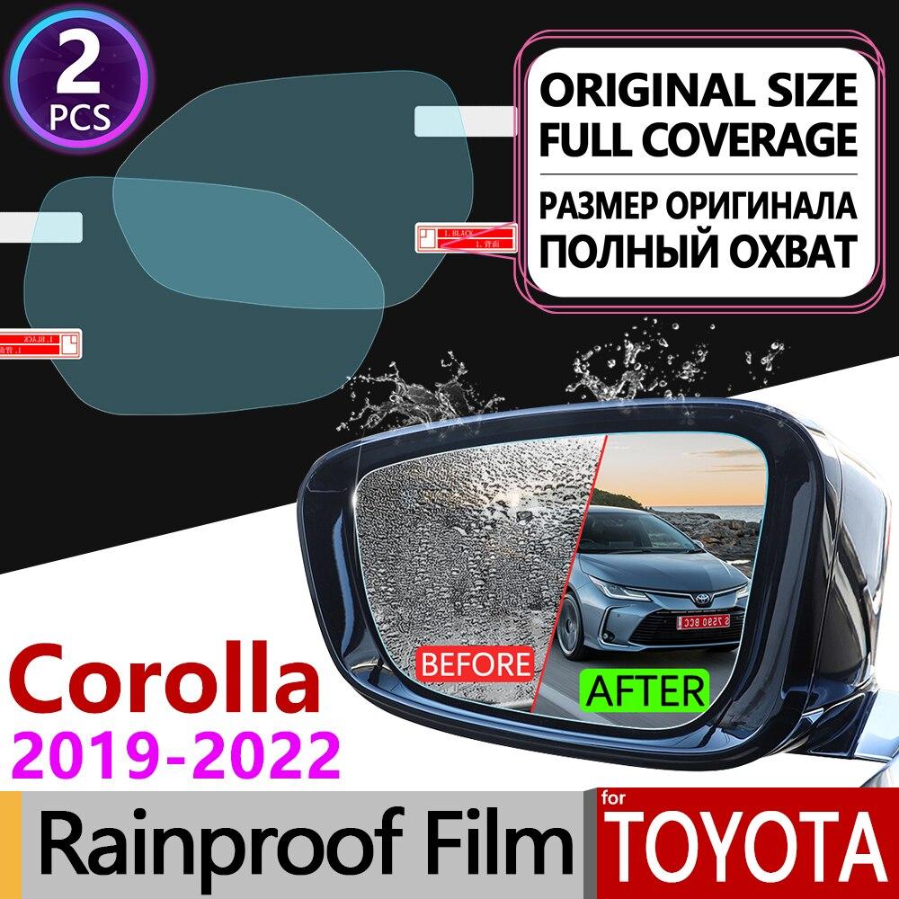 for Toyota Corolla E210 210 2019 2020 Full Cover Anti Fog Film Rearview Mirror Rainproof Anti-Fog Films Clean Car Accessories