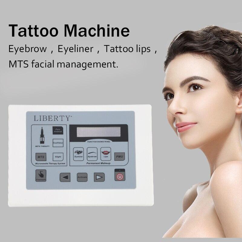 Original Liberty dermographe maquillage permanente tatuaje Digital máquina con tatuaje de interruptor de pie kit tatuaje aguja pluma