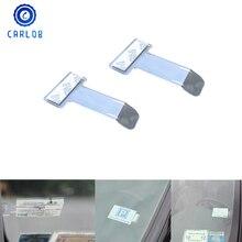 CARLOB 2 sztuk samochodów deska rozdzielcza naklejki naklejki szyby przedniej zapięcie parking uchwyt na bilety uchwyt na bilety hak samochodowy pudełko do przechowywania akcesoria
