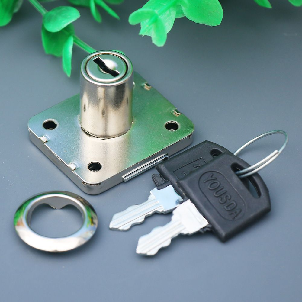 Hot New 1pcs  Cam Cylinder Locks Door Cabinet Mailbox Drawer Cupboard Locker Security Furniture Locks With Plastic Keys Hardware