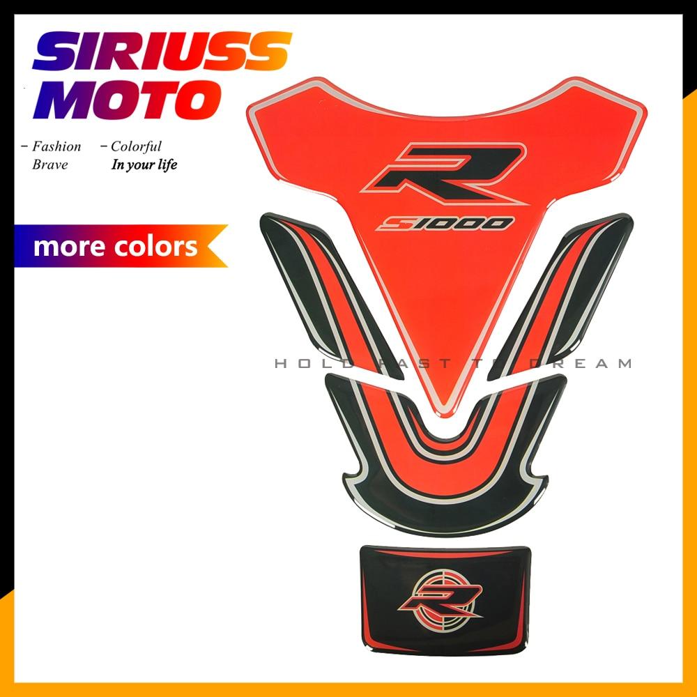 3D Moto Tanque Pad Tankpad Protector Etiqueta Motocross S1000RR S1000R Adesivos Caso para BMW S1000