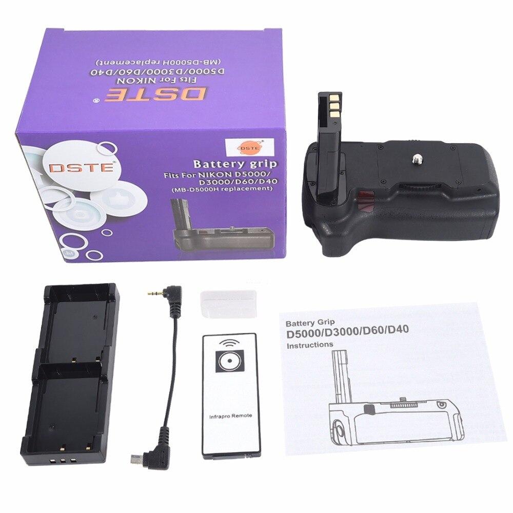 DSTE Multi-Vertical de poder apretón de la batería + Control remoto para Nikon D40 D40X D60 D5000 D3000 DSLR Cámara