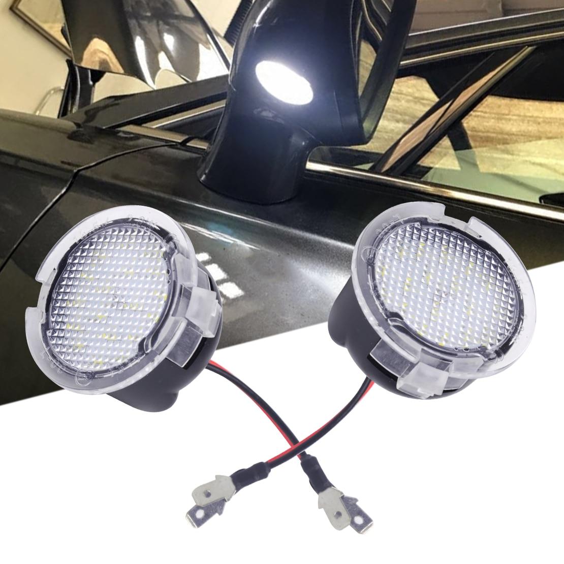 CITALL 2 piezas de alta potencia LED blanco espejo lateral charco luces apto para Toyota Tundra 2007-2010, 2011 de 2012 2013, 2014, 2015, 2016, 2017