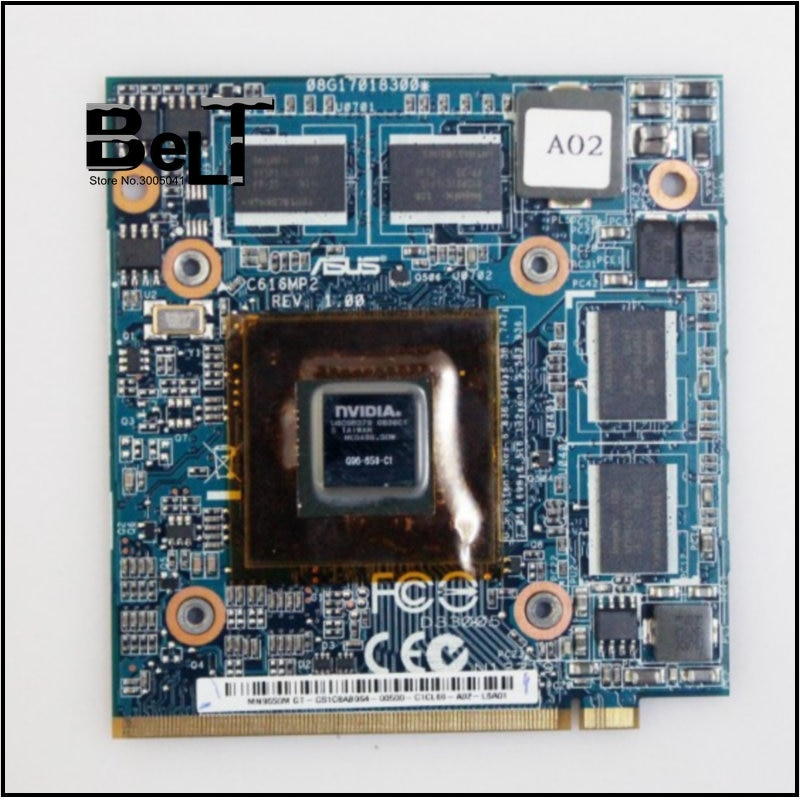 9650M GT 9650MGT G96-650-C1 REV 1,00 DDR2 1GB vídeo VGA tarjeta para Asus C90P C90S S97V Z97V para ACER 5920G 6920G portátil