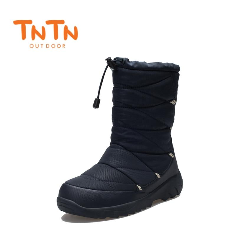 TNTN New Outdoor Winter Hiking Boots Waterproof Boots Warm Fleece Snow Shoes Men Women Thermal Hiking Outdoor Walking Boots