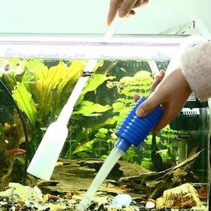 Aquarium Cleaner Tool Siphon  Vacuum Water Change Gravel Cleaner Fish Tank Pump Filter Vacuum Water Change Pump Tools