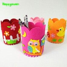 Happyxuan 8 pièces Kit de couture jouet feutre tissu bricolage porte-stylo enfants artisanat fournitures créatif enfant matériel éducatif préscolaire