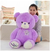 huge purple teddy bear toy big creative lovely lanvender bear toy cute bear toy gift doll about 140cm 0145