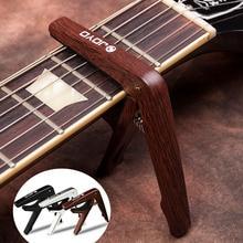 Pince de Capo de guitare en plastique ABS avec pics pour 6 guitares à cordes guitare Folk Pop bois ukulélé pièces et accessoires Capos de JCP-01 JOYO
