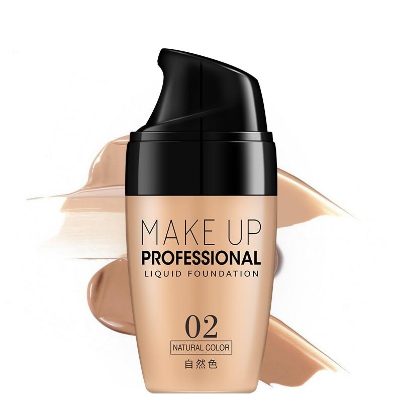 Crema correctora facial, Base líquida, blanqueadora, maquillaje Natural Mineral, corrector, ojeras, Base de maquillaje profesional
