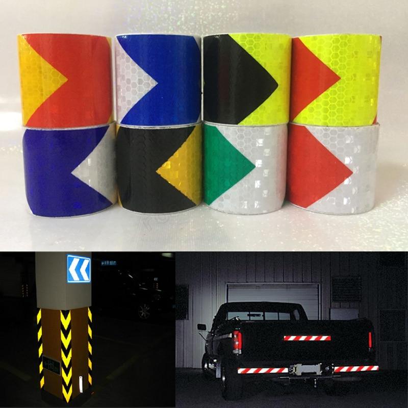 Светоотражающие полосы 5 см X 3 м, автомобильные наклейки, автомобильный Стайлинг, украшение для мотоцикла, автомобильные предупреждающие кл...