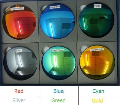 1.49 Index Fashion Colorful Mirrored Reflective Polarized Sunglasses Prescription Lenses Hard Anti-Scratch UV Protection EV1200