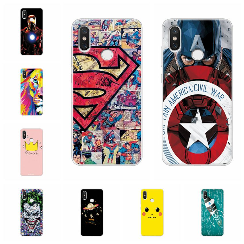 El Capitán América funda de teléfono para Xiaomi Redmi Note 6 Pro amplio de silicona elegante cubierta de flores para Redmi Nota 6 pro Coque payaso Capa