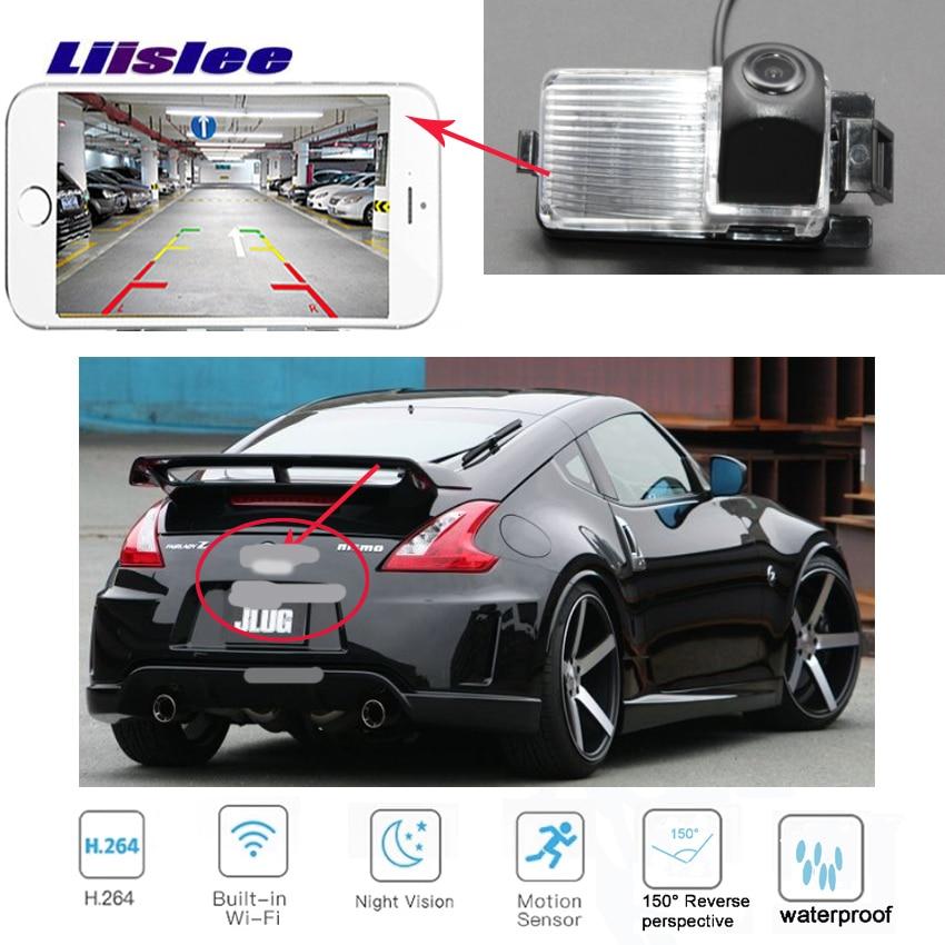 Cámara de visión trasera inalámbrica LiisLee para Nissan Skyline GTR R35 250GT G35 Infiniti G37 CCD cámara de visión nocturna de respaldo Ca