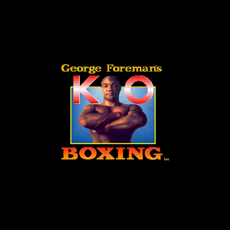George Foreman's KO Boxing 16 bit Big Gray Game Card For NTSC Game Player Drop Shipping