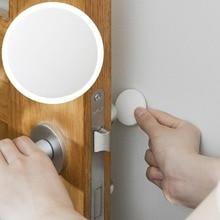 5 uds. Suspensión de puerta silenciosa de engrosamiento de pared protector de goma con diseño de Golf manija cerradura de la puerta protectora almohadilla de protección palo de pared