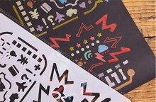 12 pièces pochoir fleur numéros anges mélanger Syle découpé pour bricolage Scrapbooking Photo Album carte Art gaufrage artisanat décoratif