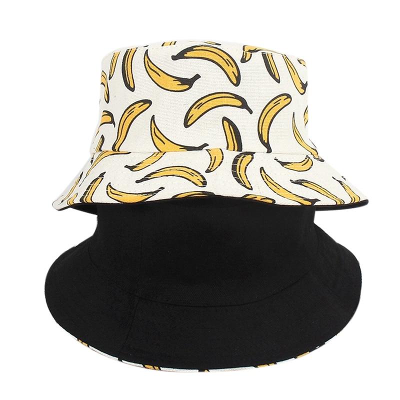 Gorra de pesca mujer Banana 3D impreso cubo sombrero verano hombres Hip Hop pescador cap hombres Panamá pesca playa sombreros