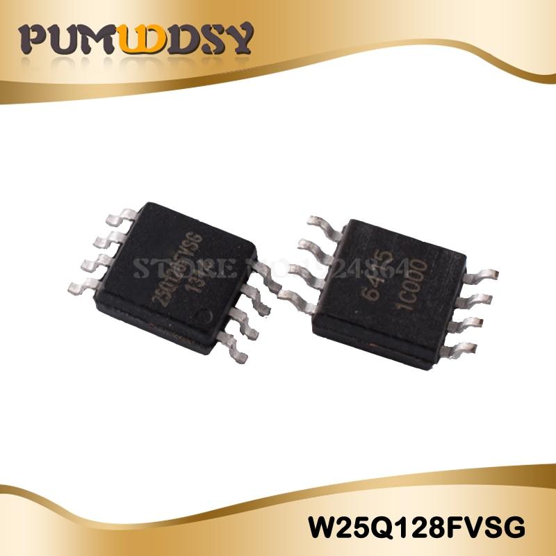 50 יחחבילה W25Q128FVSG W25Q128FVSIG W25Q128 SOP-8 אותנטי מקורי IC