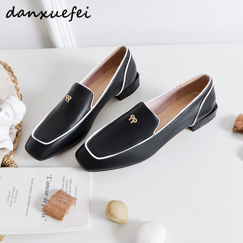 حذاء بدون كعب للنساء مقاس كبير 33-43 مصنوع من الجلد الأصلي حذاء بدون كعب بتصميم علامة تجارية بووتي مريح حذاء إسبادريل ناعم حذاء بدون كعب مثير