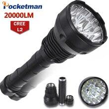 En güçlü LED el feneri 15 XM-L2 LED 5 modları su geçirmez süper parlak LED el feneri el feneri Linterna Lampe Torche lamba