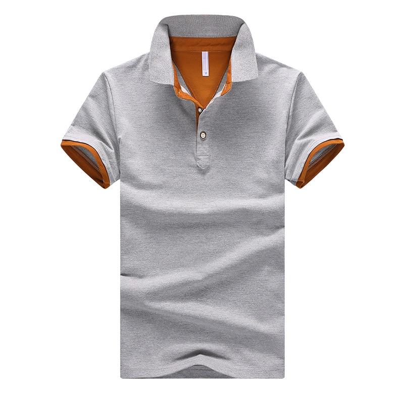 2020 Camiseta Polo Casual de algodón de manga corta para hombre, camiseta ajustada para hombre, ropa de cuello vuelto, Camisetas de verano de talla grande