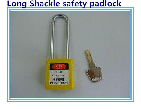 5 pçs/lote BD-G21 cadeado de segurança de bloqueio de segurança plástico trava de segurança, 76mm longo manilha cadeados