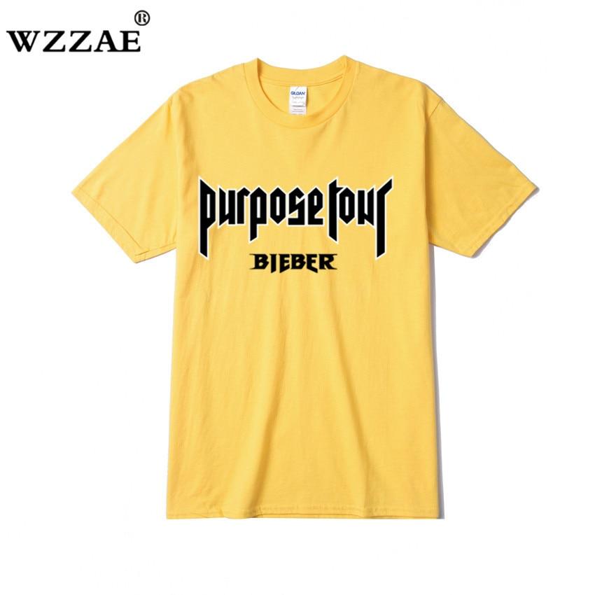 Мужская футболка с коротким рукавом Justin Bieber, футболка в стиле рок, хип-хоп, Tumblr