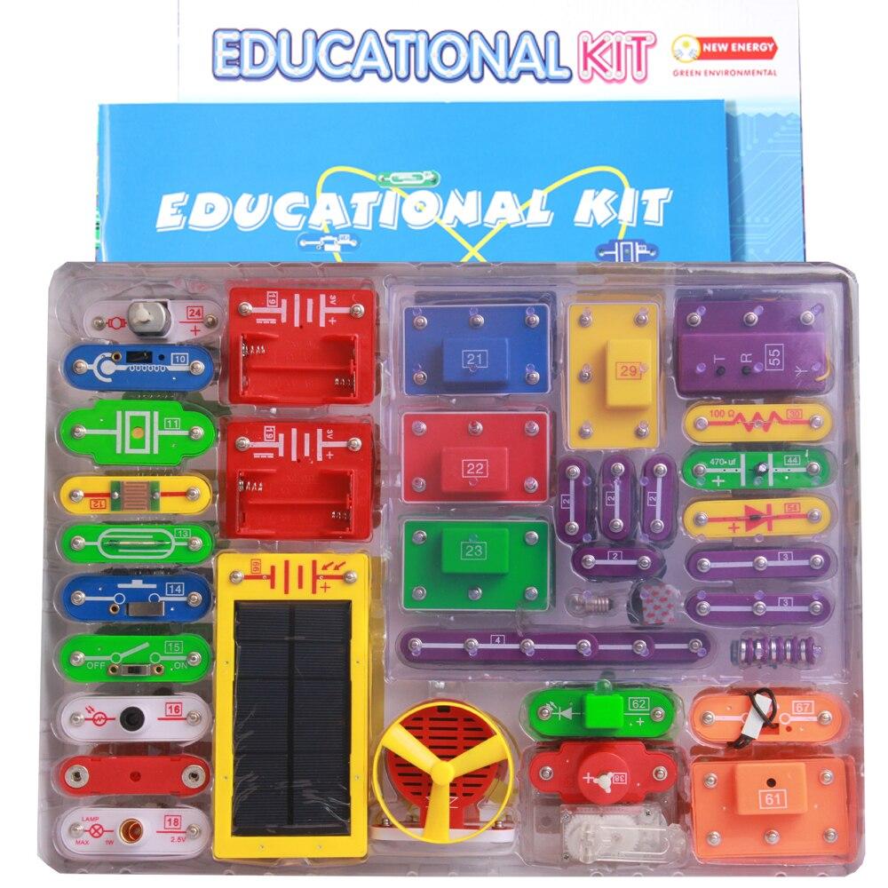 Diy creativo bloques de construcción electrónicos estudiantes niños física aprendizaje educación temprana juguete herramienta Kit educativo niños regalo