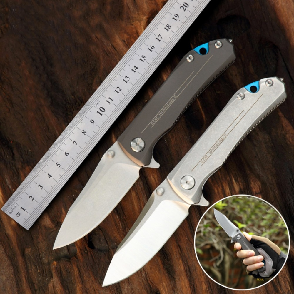 Cuchillo plegable sénior The sharp 9Cr18MoV steel survival tactics dureza 62 HRC EDC, herramienta de alta gama Cuchillo de regalo