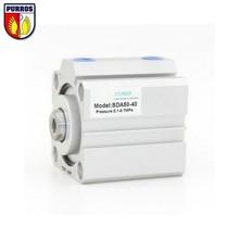SDA100 Компактный цилиндр, диаметр отверстия 100 мм, ход 40/45/50/55/60/65/70 мм