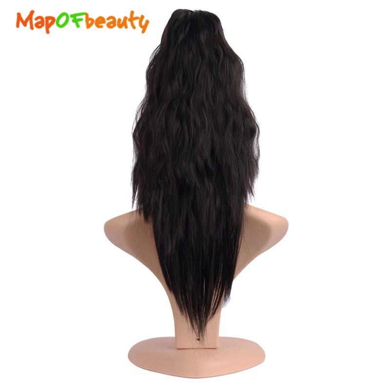 "MapofBeauty 16 ""40cm de largo garra Clip extensiones de cabello sintético coleta natural falso pelo rizado falso señora postizos colas de Pony"