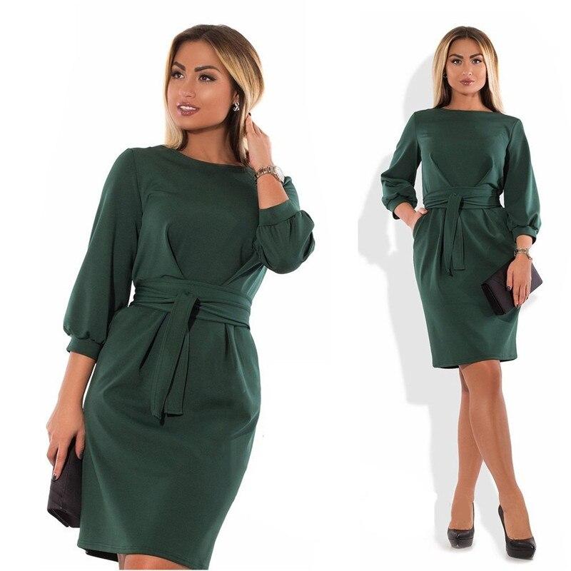 Платье CACNCUT женское однотонное для офиса