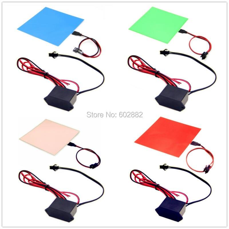 Led-panel 10x10 cm EL Hintergrundbeleuchtung, EL Panel + (7 farben erhältlich) + 12 v Inverter mischungsauftrag vorhanden