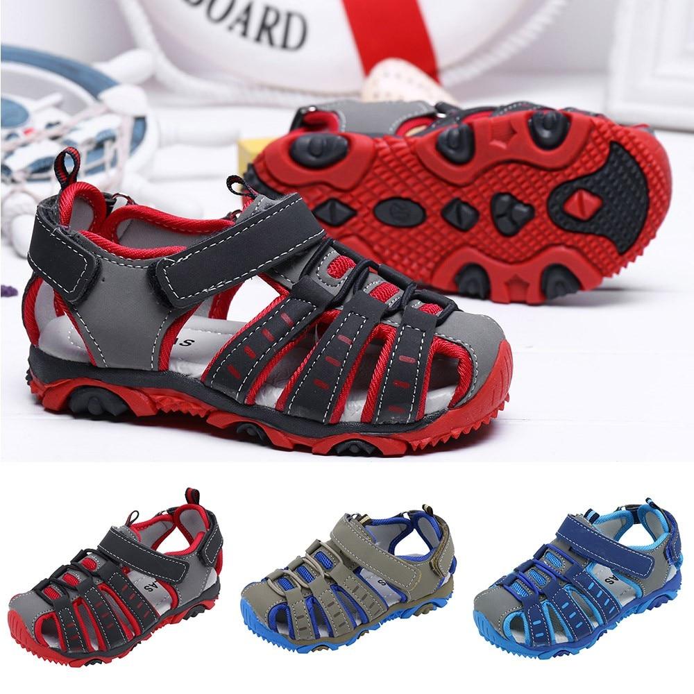 Zapatos de verano para niños, zapatos para niños, sandalias para niños y niñas, sandalias de verano con punta cerrada para playa, Zapatos, zapatillas, sandalias para niños pequeños, sandalias de princesa