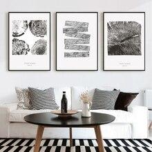 Sure Life черно-белые елочные кольца холщовые картины скандинавские настенные художественные постеры печатные картины в стиле поп для украшен...