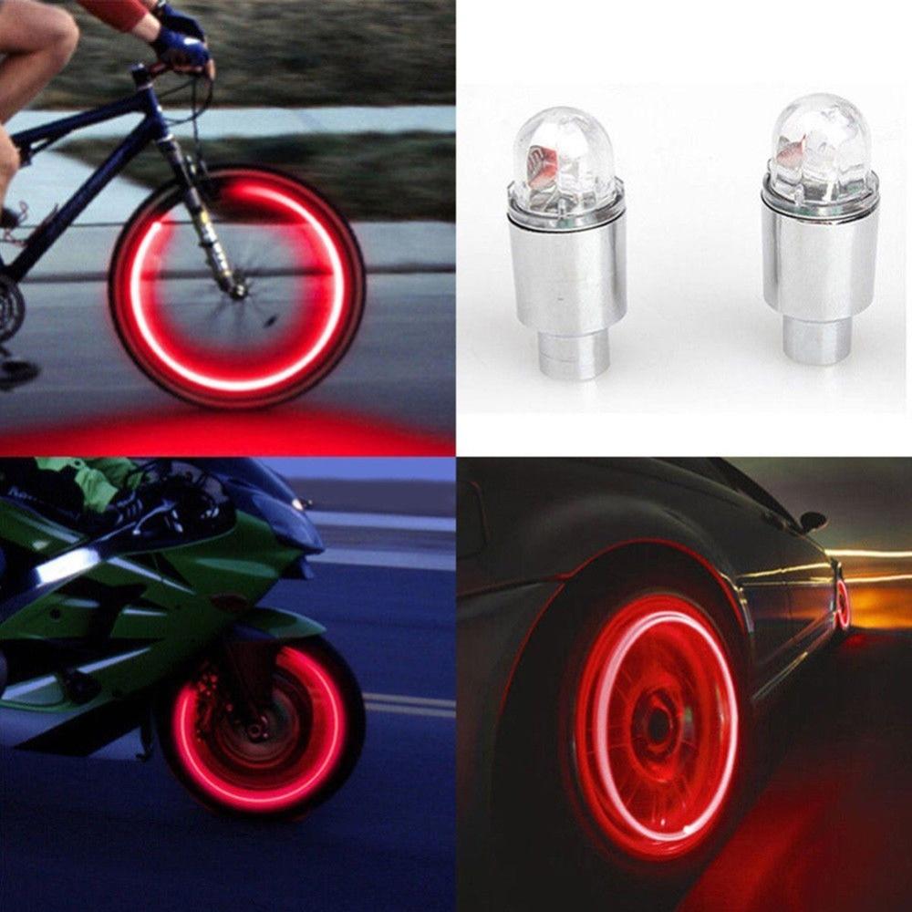 Bostar, 2 шт., супер мощный свет, шина, лампа, Muiticolor, автомобильные аксессуары для мотоцикла, велосипеда, неоновый стробоскоп, светодиодные колпачки для шин, клапан #281366