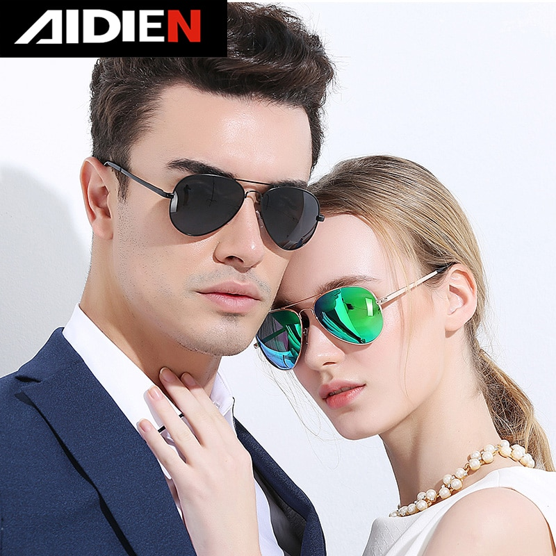 Gafas de sol polarizadas para hombre, gafas de Aviador vintage para mujer, gafas de sol de conducción UV400 de diseño Retro de marca piloto clásico