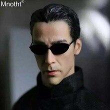 Mnotht 1/6 Homicide réseau Hacker Empire Keanu Reeves tête sculptures lunettes modèle jouet pour 12in soldat figurine daction ma